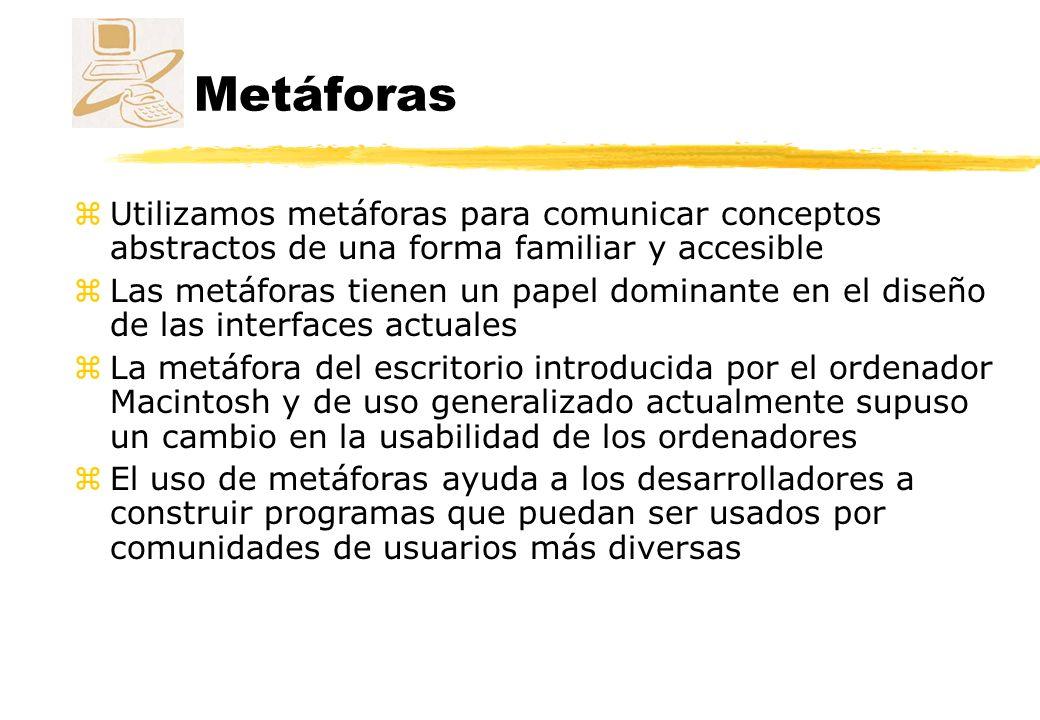 Metáforas Utilizamos metáforas para comunicar conceptos abstractos de una forma familiar y accesible.