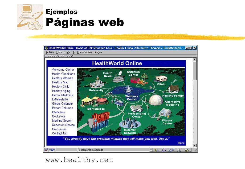Ejemplos Páginas web www.healthy.net