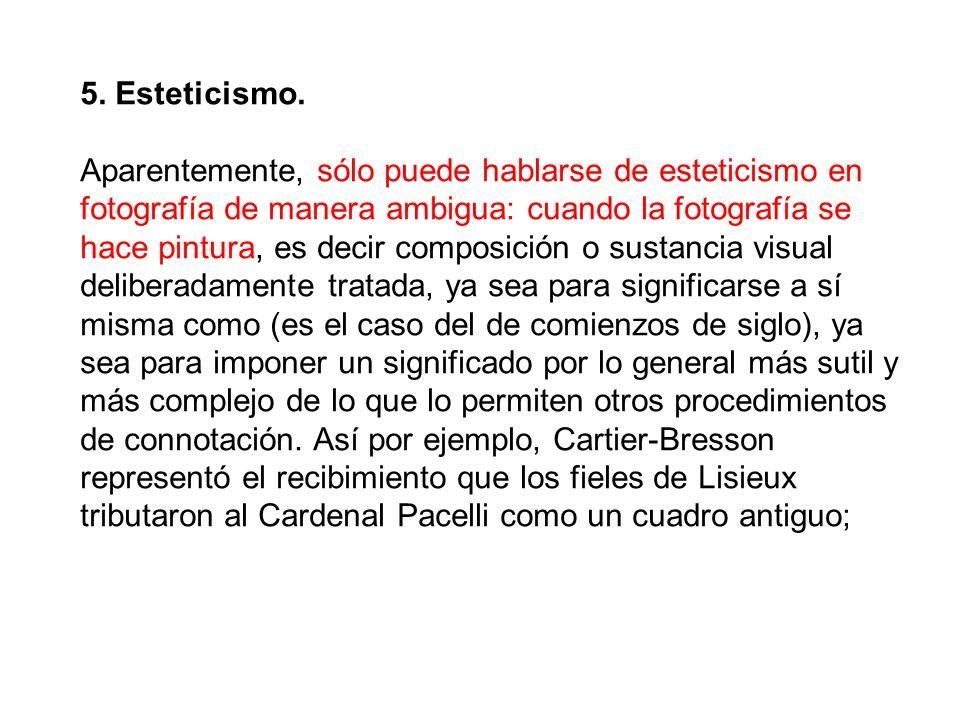 5. Esteticismo.