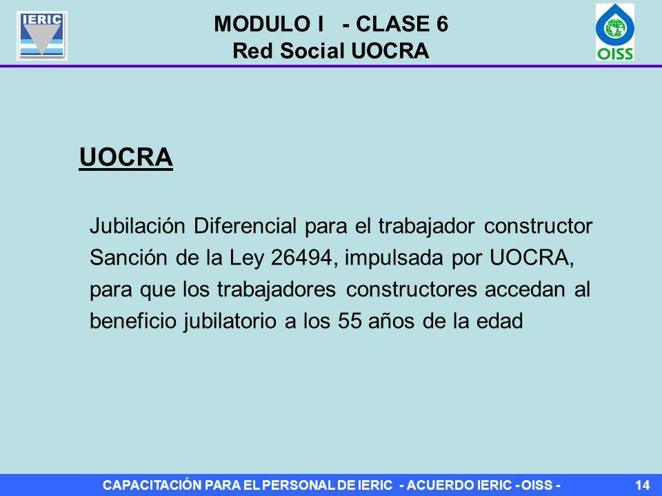 UOCRA MODULO I - CLASE 6 Red Social UOCRA