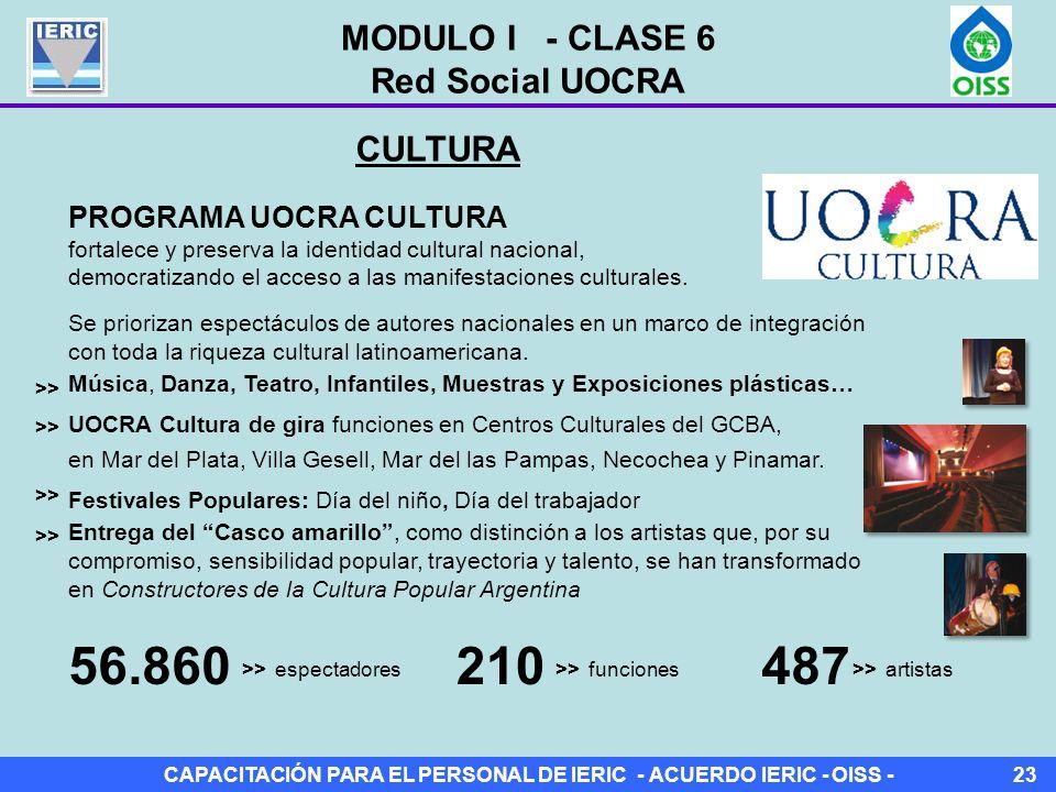 56.860 210 487 MODULO I - CLASE 6 Red Social UOCRA CULTURA