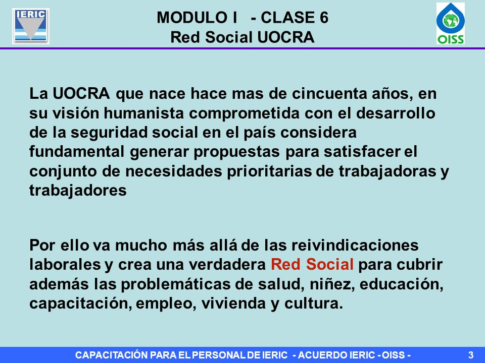 MODULO I - CLASE 6 Red Social UOCRA.