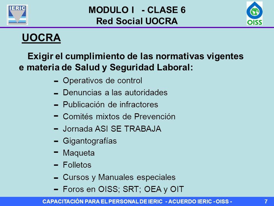 - - - - - - - - - - UOCRA MODULO I - CLASE 6 Red Social UOCRA