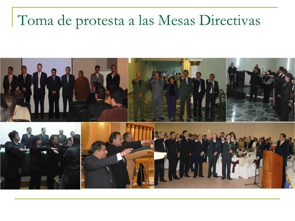 Toma de protesta a las Mesas Directivas