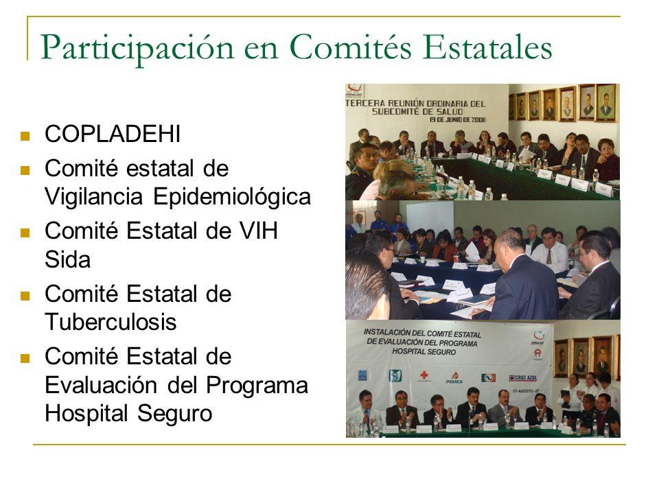 Participación en Comités Estatales