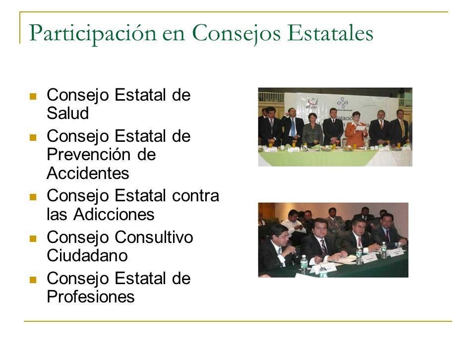 Participación en Consejos Estatales