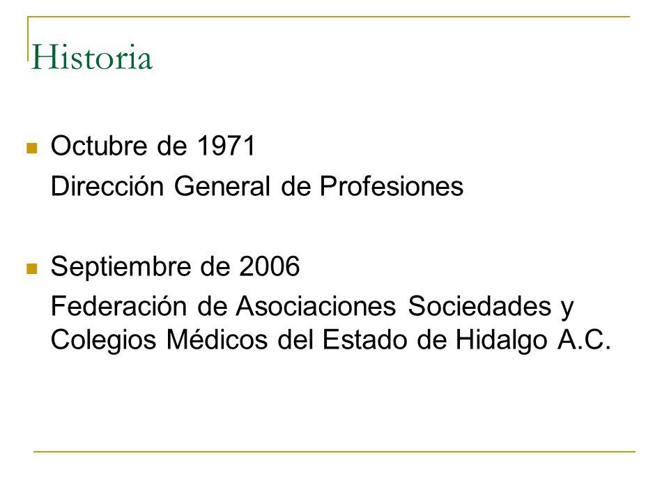 Historia Octubre de 1971 Dirección General de Profesiones
