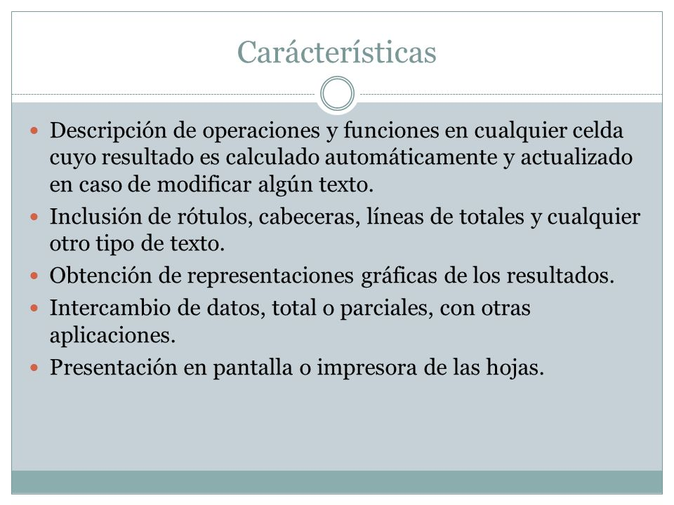 Carácterísticas