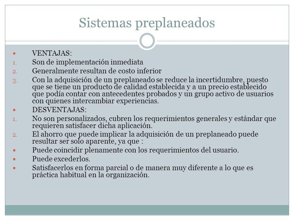 Sistemas preplaneados