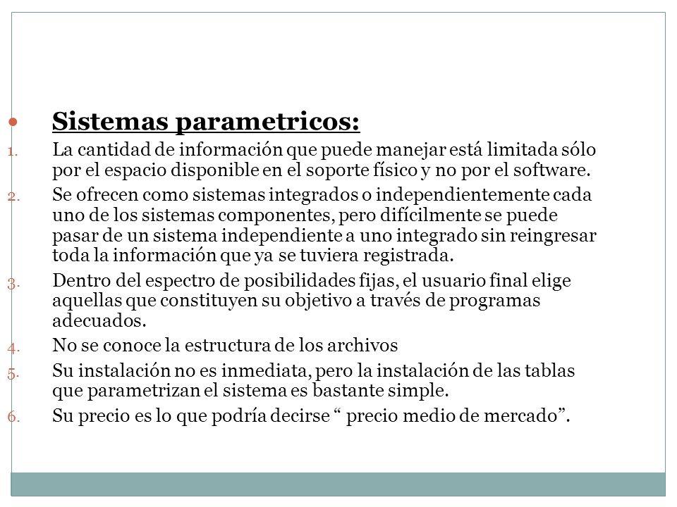 Sistemas parametricos: