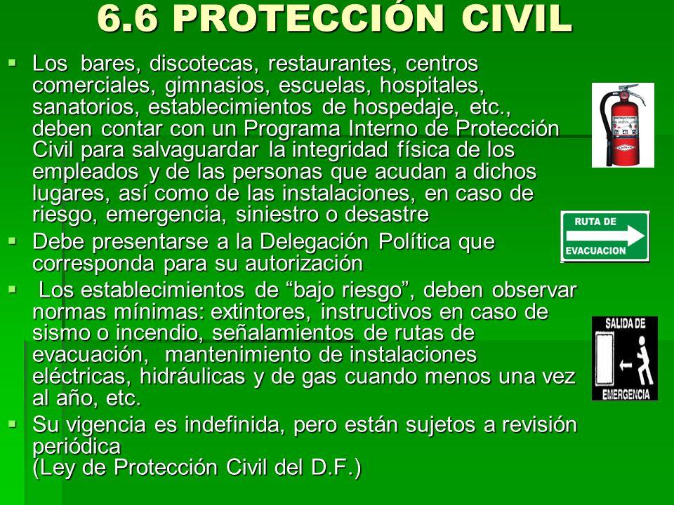 6.6 PROTECCIÓN CIVIL