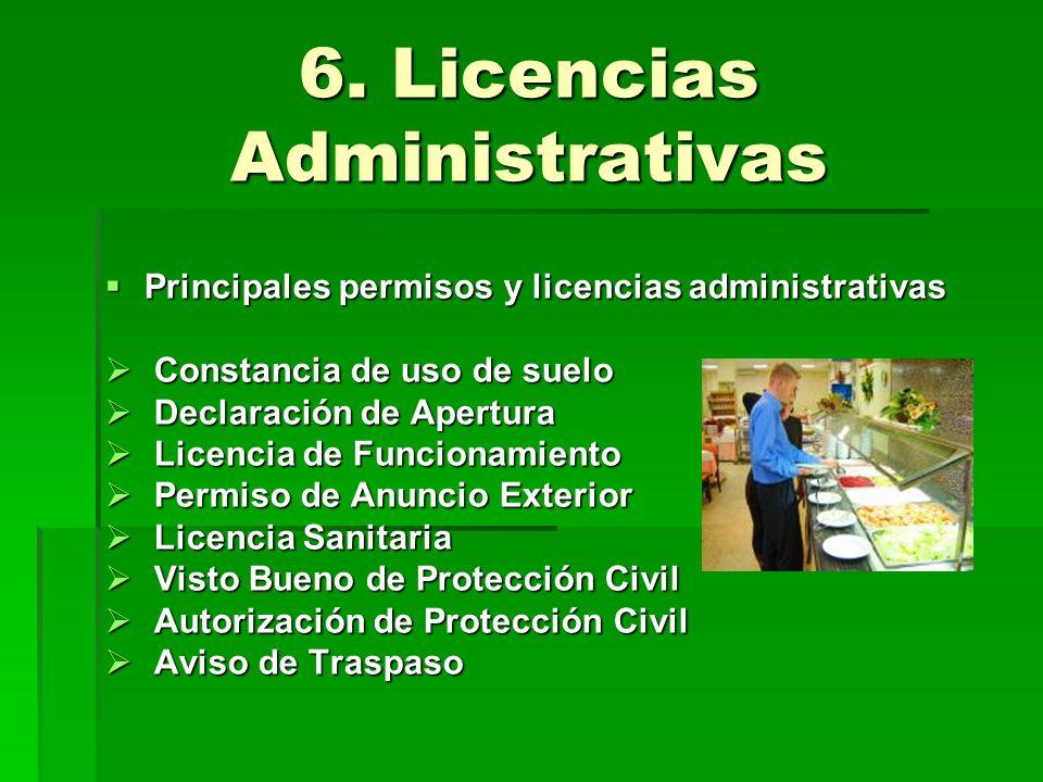 6. Licencias Administrativas