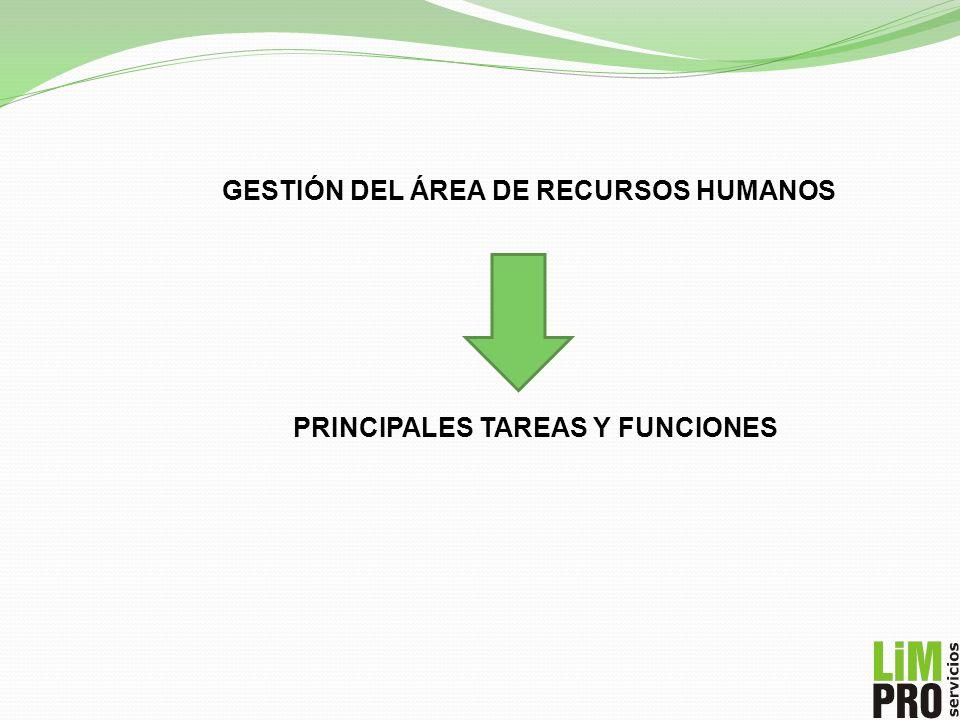 GESTIÓN DEL ÁREA DE RECURSOS HUMANOS