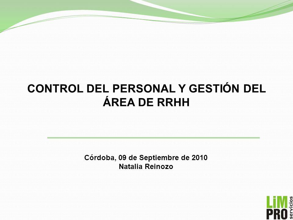 CONTROL DEL PERSONAL Y GESTIÓN DEL ÁREA DE RRHH