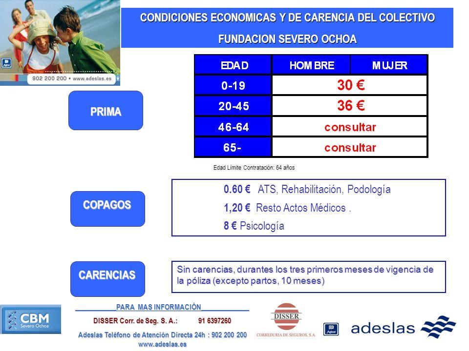 CONDICIONES ECONOMICAS Y DE CARENCIA DEL COLECTIVO