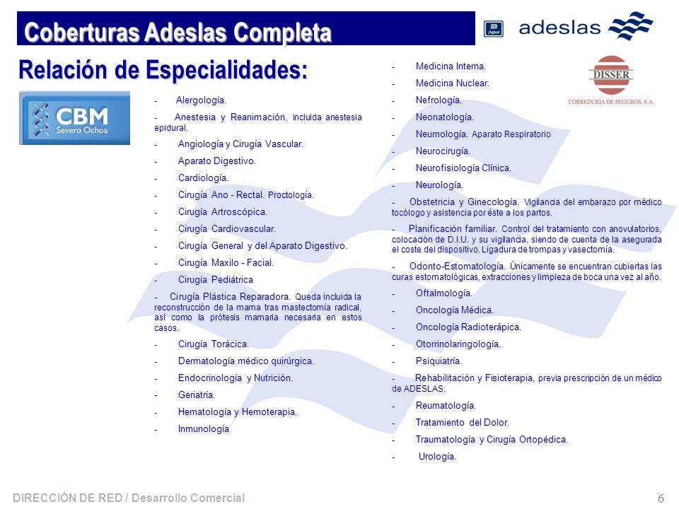 Coberturas Adeslas Completa
