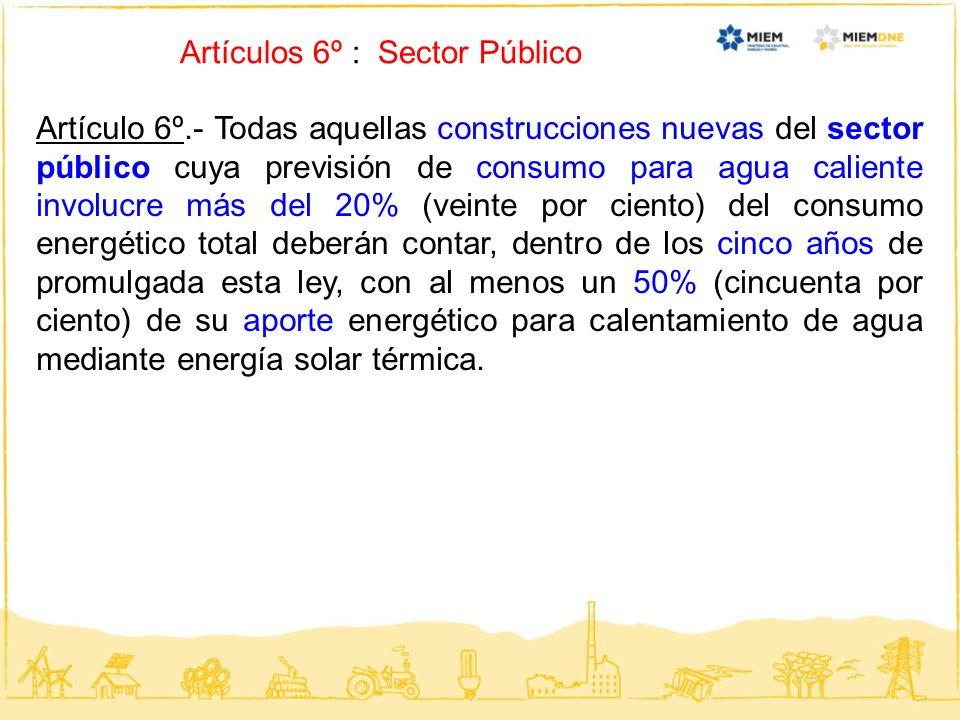 Artículos 6º : Sector Público