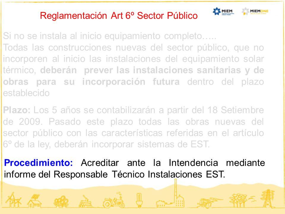 Reglamentación Art 6º Sector Público