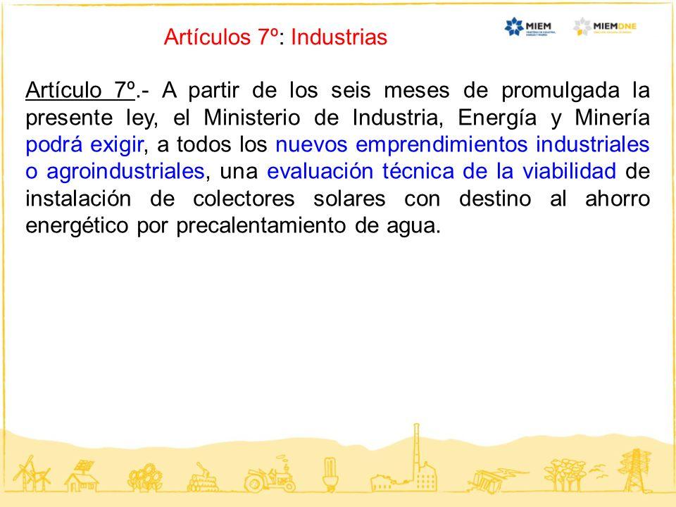 Artículos 7º: Industrias