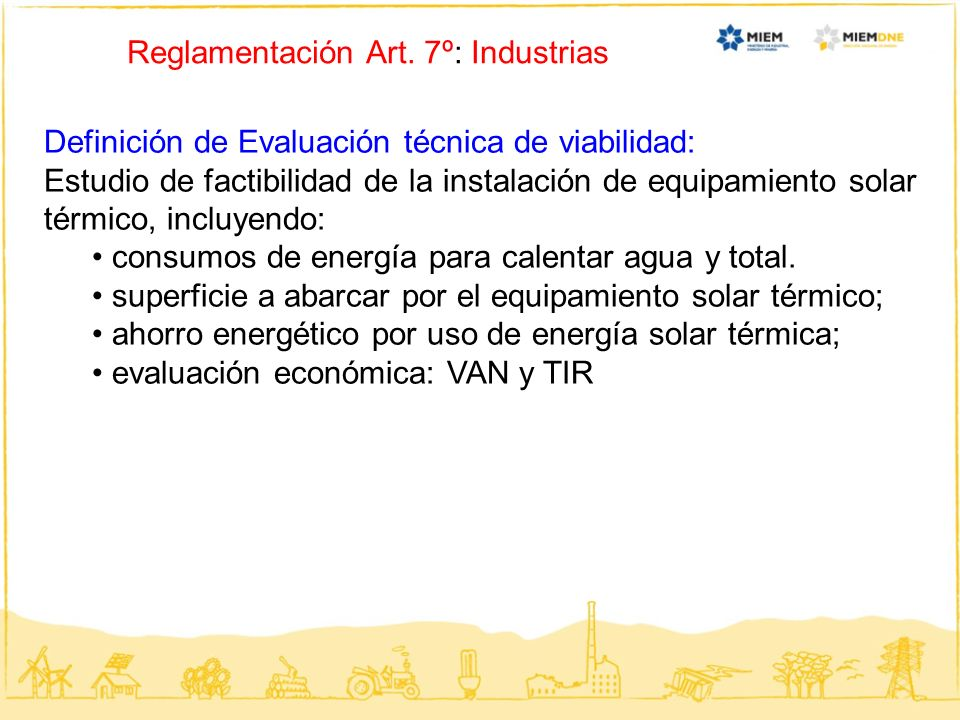 Reglamentación Art. 7º: Industrias