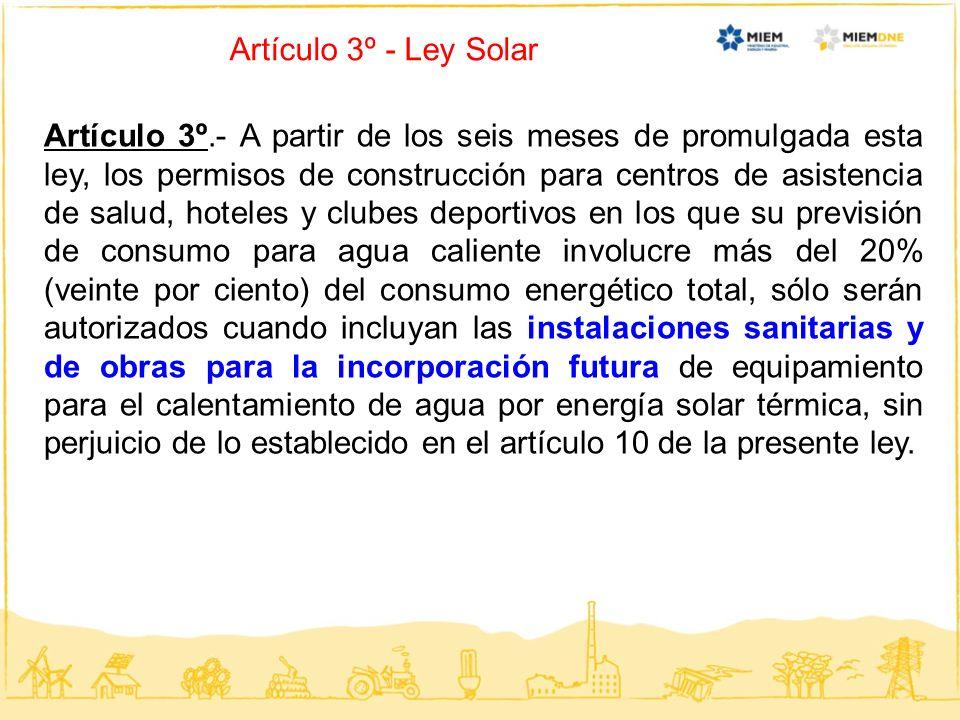 Artículo 3º - Ley Solar