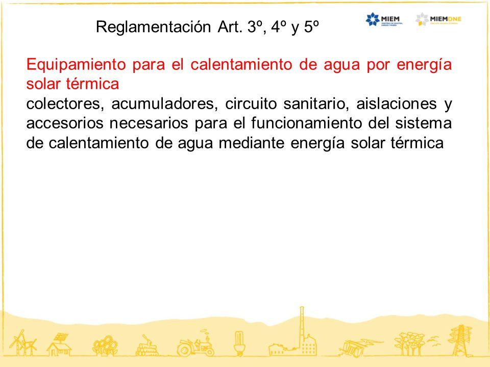 Reglamentación Art. 3º, 4º y 5º