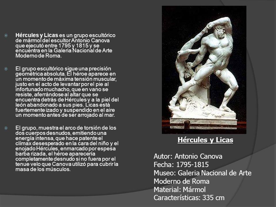 Museo: Galeria Nacional de Arte Moderno de Roma Material: Mármol