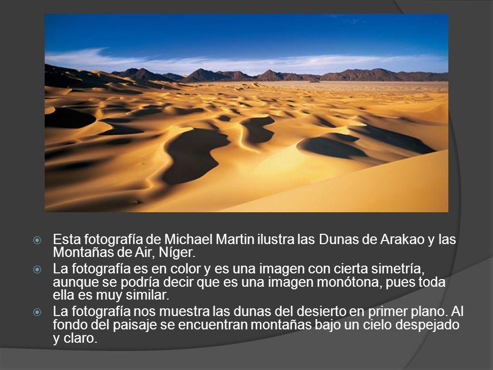 Esta fotografía de Michael Martin ilustra las Dunas de Arakao y las Montañas de Air, Níger.