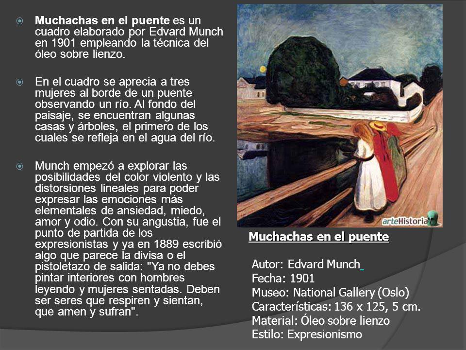 Muchachas en el puente es un cuadro elaborado por Edvard Munch en 1901 empleando la técnica del óleo sobre lienzo.