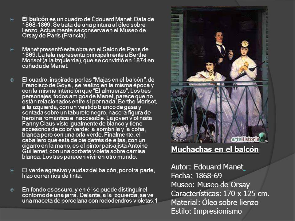 El balcón es un cuadro de Édouard Manet. Data de 1868-1869