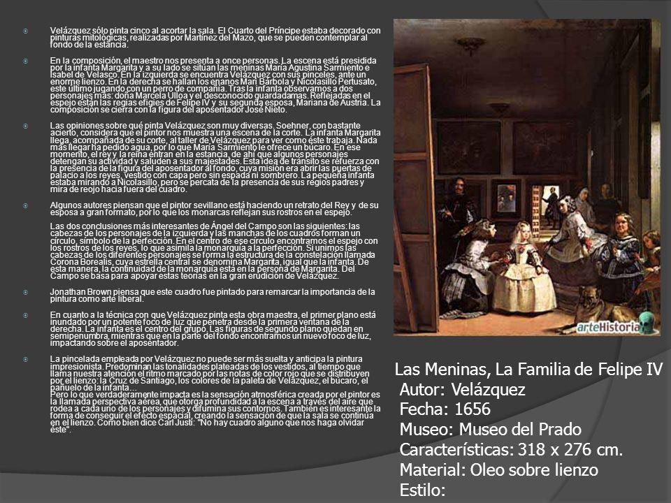 Velázquez sólo pinta cinco al acortar la sala