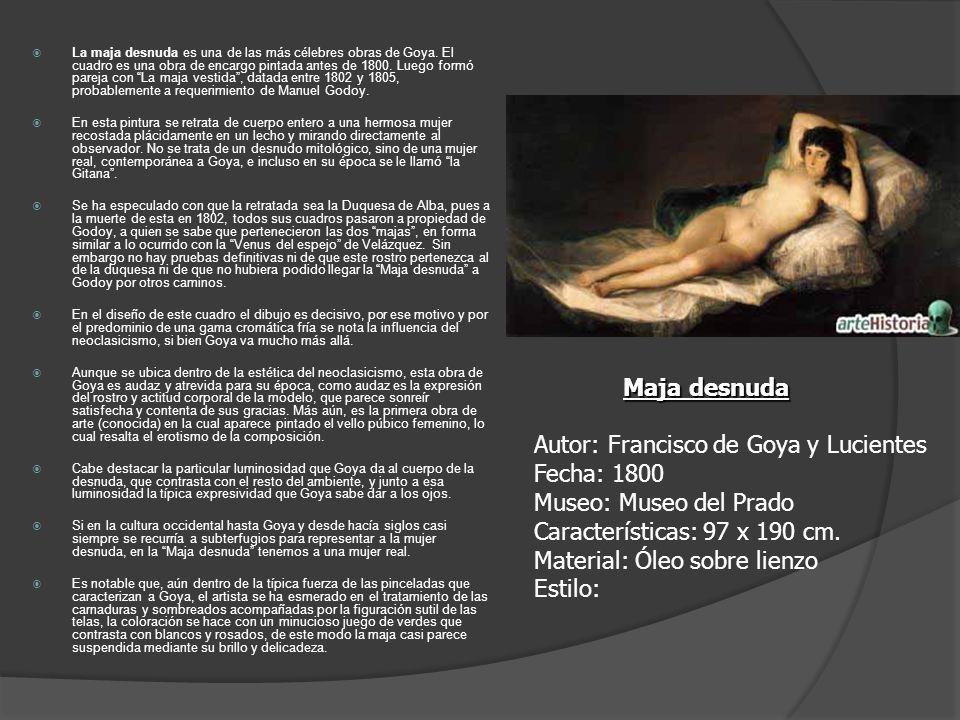 La maja desnuda es una de las más célebres obras de Goya