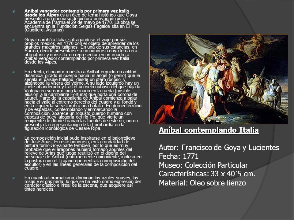 Aníbal contemplando Italia