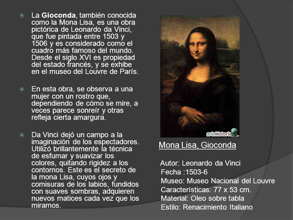Mona Lisa, Gioconda
