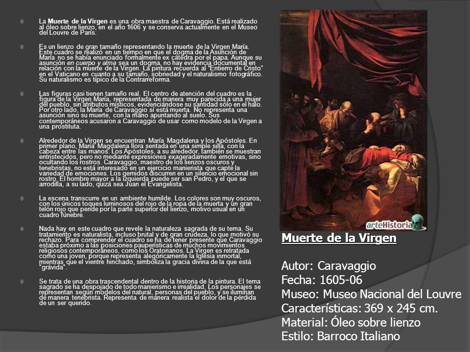 La Muerte de la Virgen es una obra maestra de Caravaggio