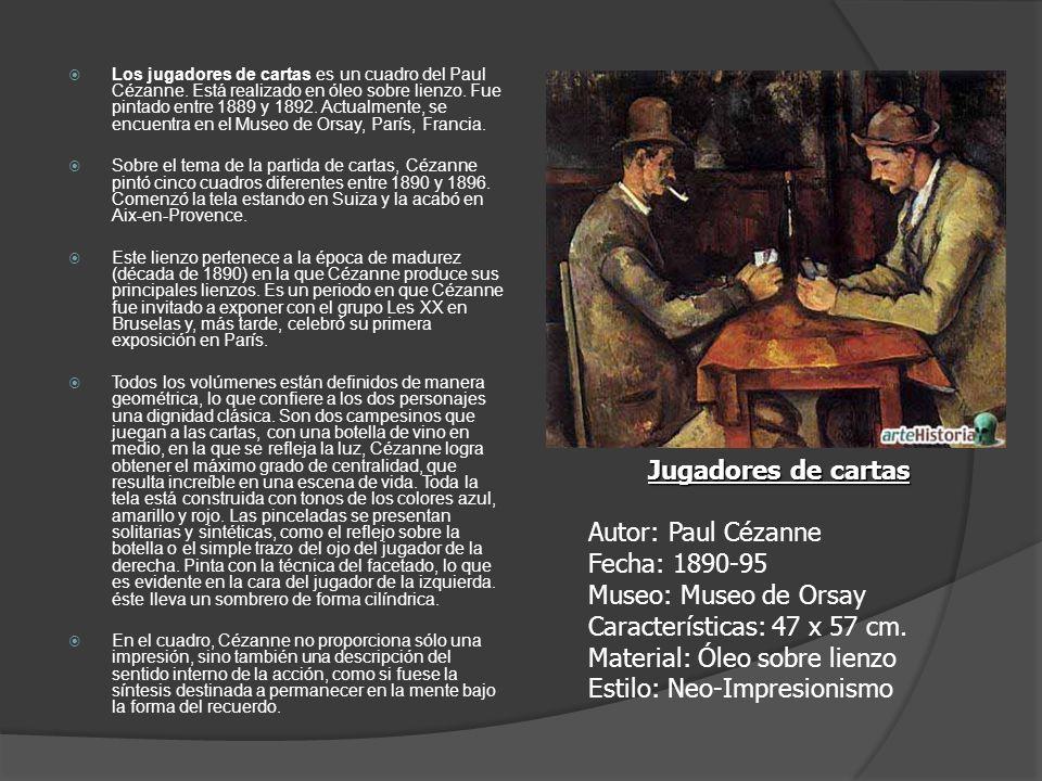 Los jugadores de cartas es un cuadro del Paul Cézanne