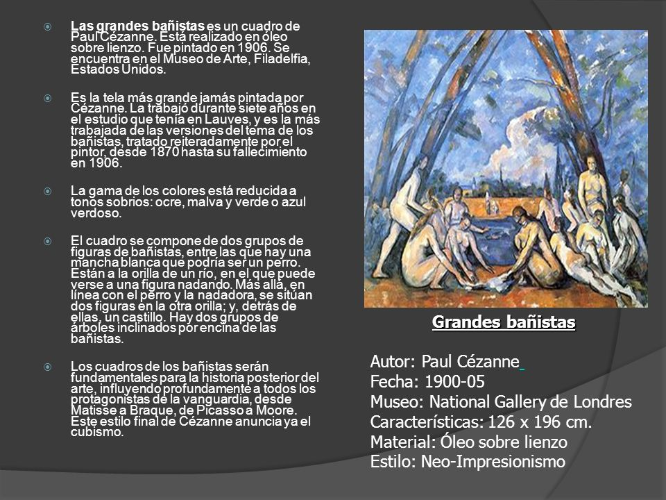 Las grandes bañistas es un cuadro de Paul Cézanne