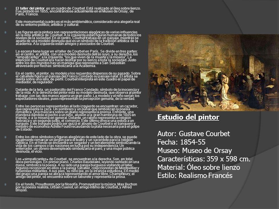 El taller del pintor es un cuadro de Courbet