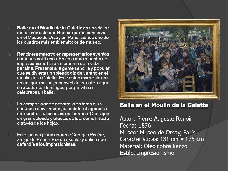 Baile en el Moulin de la Galette Autor: Pierre-Auguste Renoir