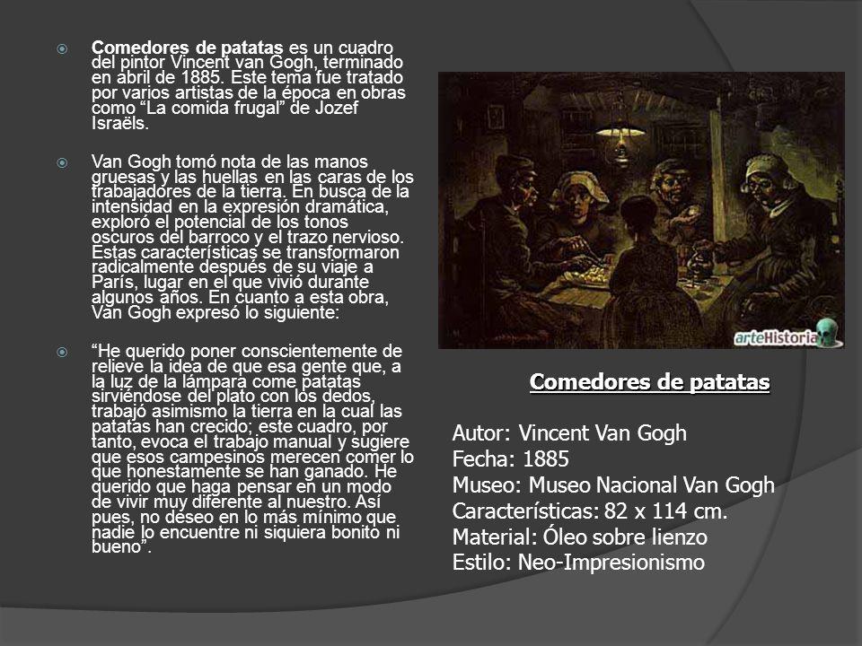 Comedores de patatas es un cuadro del pintor Vincent van Gogh, terminado en abril de 1885. Este tema fue tratado por varios artistas de la época en obras como La comida frugal de Jozef Israëls.