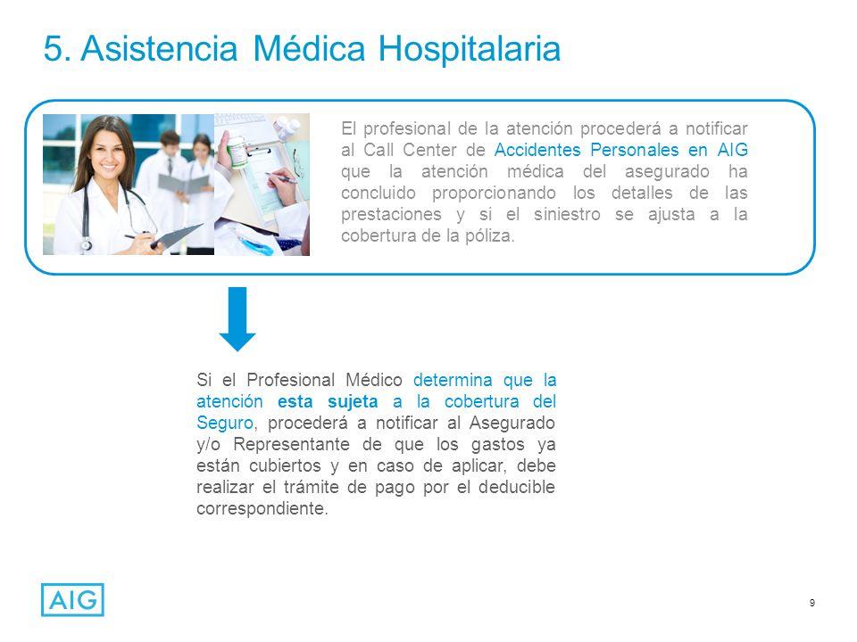 5. Asistencia Médica Hospitalaria
