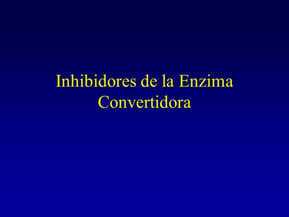 Inhibidores de la Enzima Convertidora