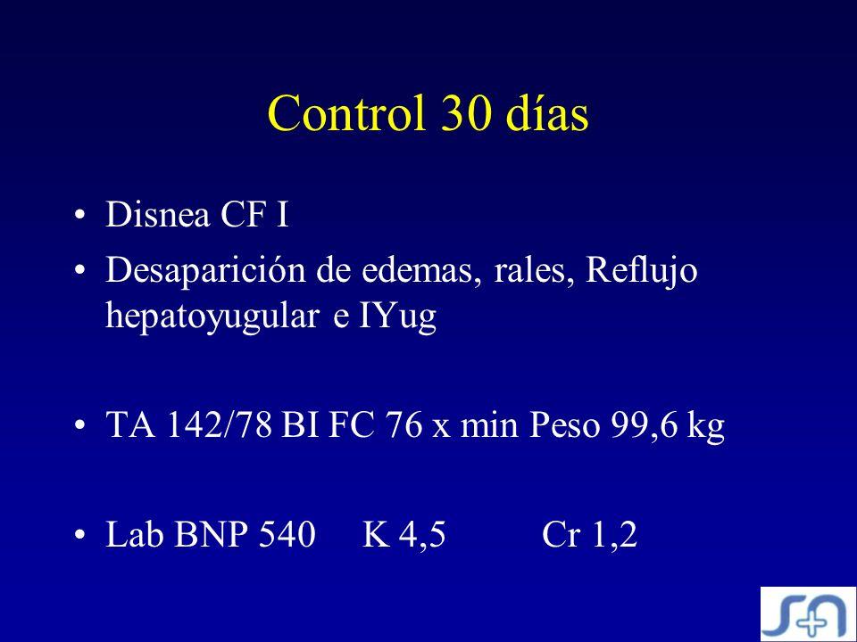 Control 30 días Disnea CF I