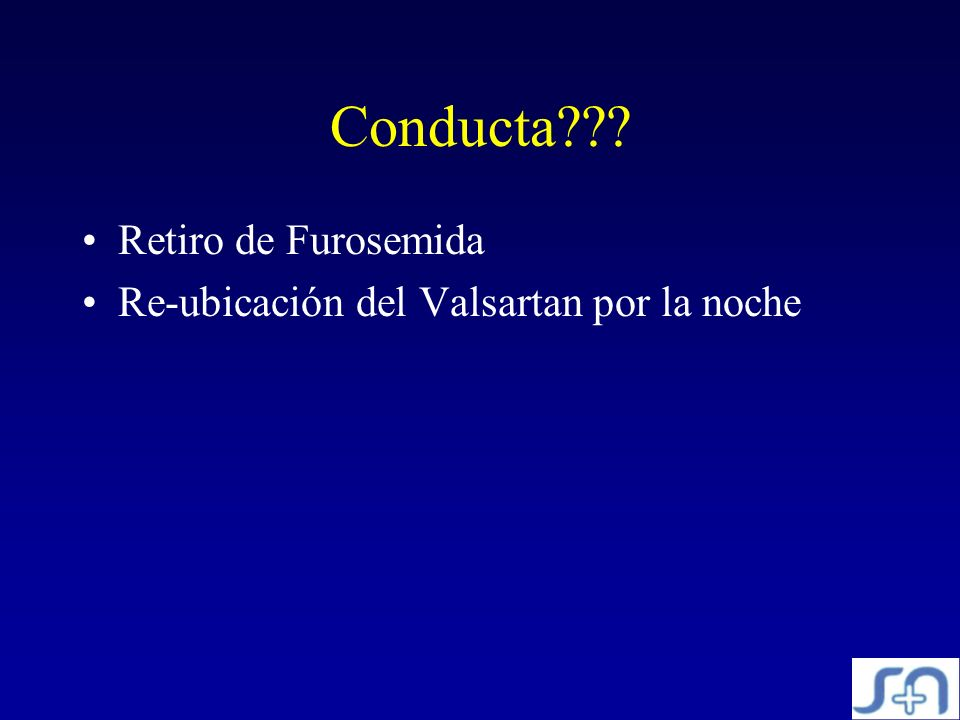Conducta Retiro de Furosemida