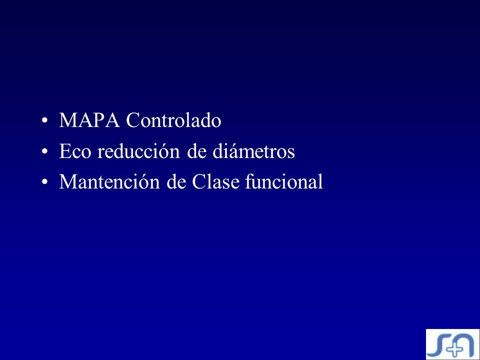 MAPA Controlado Eco reducción de diámetros Mantención de Clase funcional