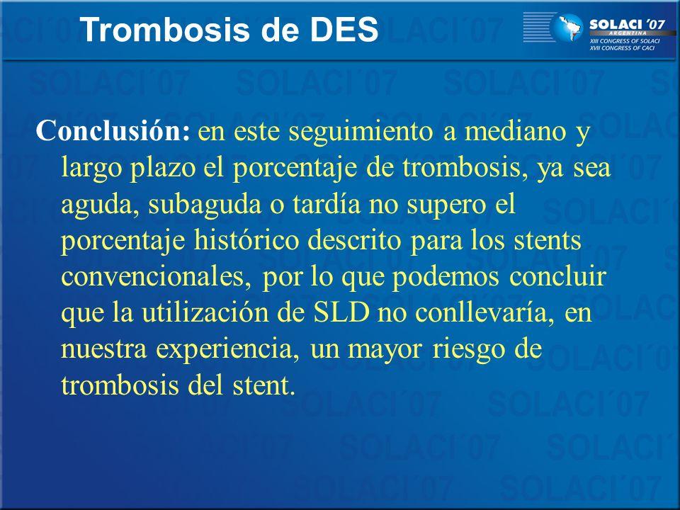 Trombosis de DES