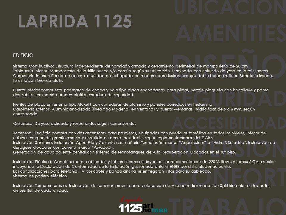 DISEÑO TRABAJO CONFORT AMENITIES INVERSION SEGURIDAD UBICACION