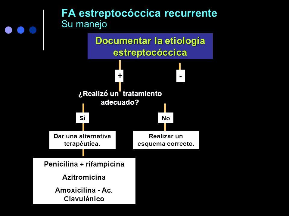FA estreptocóccica recurrente Su manejo
