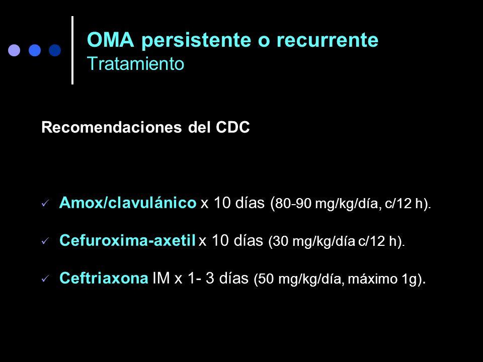 OMA persistente o recurrente Tratamiento