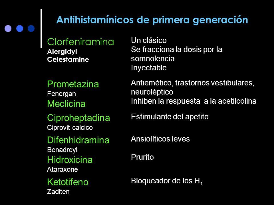 Antihistamínicos de primera generación